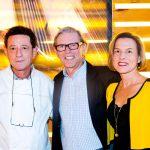 Gruppenfoto mit Gerhard Schwaiger, Norbert Schäfer und Empfangschefin Christina